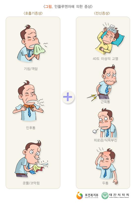 인플루엔자에의한증상